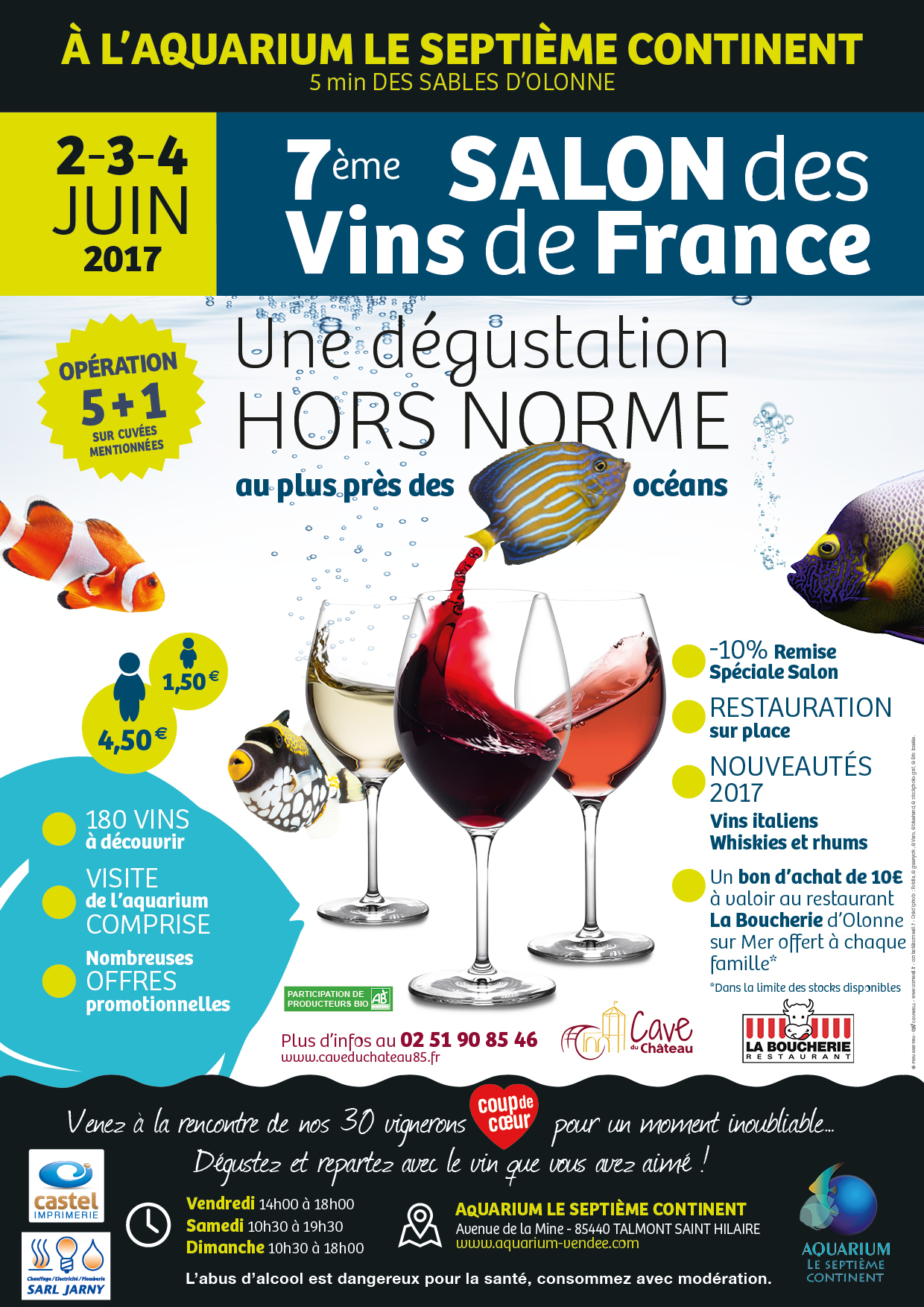 Salon des vins 2017 aquarium de vend e for Calendrier salon des vins